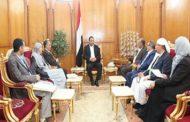 الرئيس الصماد يلتقي رئيس وأعضاء اللجنة العليا للانتخابات