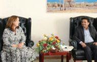 نائب وزير الخارجية يلتقي مديرة مكتب المبعوث الأممي بصنعاء