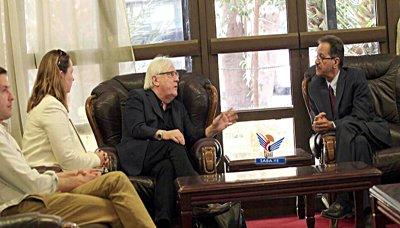 مبعوث الأمين العام للأمم المتحدة يصل إلى صنعاء