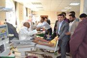وزير الصحة يتفقد سير العمل بهيئة مستشفى الثورة بإب ومستشفى جبلة