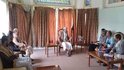 محافظ إب يلتقي نائبة مدير مكتب الأوتشا في اليمن