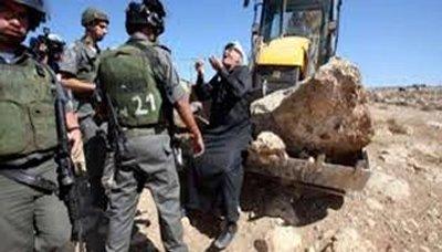 الاحتلال يقر قانونا لسلب اراضي الفلسطينيين في الضفة و يهدم 6 منازل في الضفة واراضي الـ 48