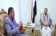 الرئيس المشاط يناقش مع وزير الإعلام مستوى الأداء الإعلامي