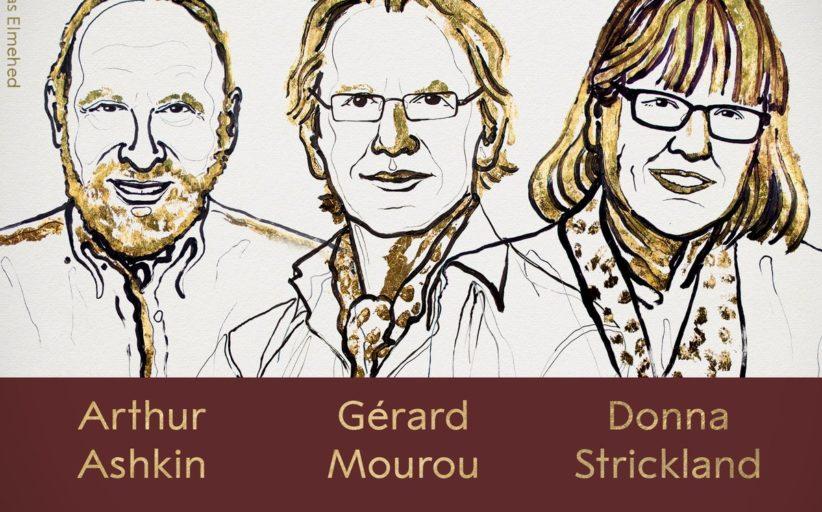 فوز 3 من علماء الليزر بجائزة نوبل للفيزياء لعام 2018م