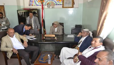 مناقشة خطط المكاتب الخدمية والإيرادية في إب للفترة المقبلة
