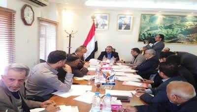 اجتماع للجنة دراسة الموجهات الأساسية للوضع الاقتصادي برئاسة الدكتور مقبولي