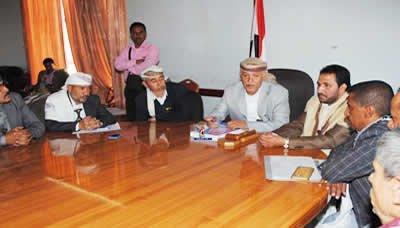 اجتماع مشترك للسلطة المحلية في إب واللجنة الرئاسية