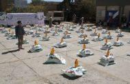 مؤسسة الشعب توزع سلال غذائية لأسر الشهداء في النادرة بإب