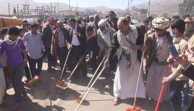 وكيل محافظة إب يطلع على سير حملة النظافة بريف إب