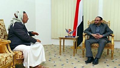 رئيس المجلس السياسي الأعلى يلتقي عضو مجلس النواب حزام فاضل