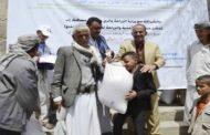 توزيع بذور محسنة ورؤوس أغنام للمزارعين بمديرية القفر في إب