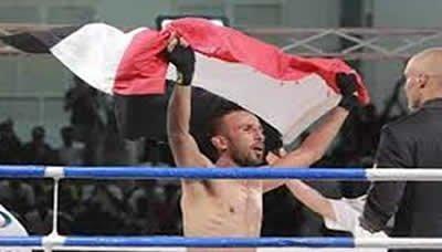 اليمني المطري يحرز الذهبية في البطولة الدولية بتونس للمواي تاي