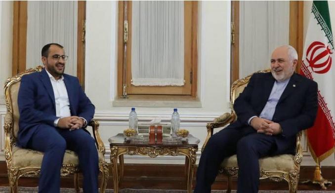 رئيس الوفد الوطني يلتقي وزير الخارجية الإيراني