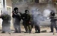 اصابة فلسطينية برصاص الاحتلال واغلاق طريق البرية شرق بيت لحم