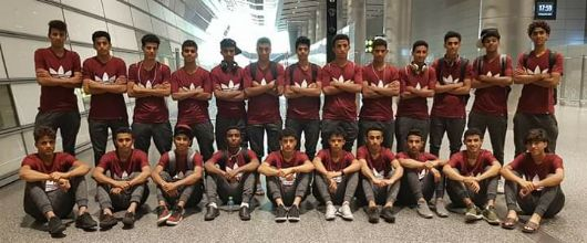وصول بعثة المنتخب الوطني للناشئين الدوحة للمشاركة في التصفيات الآسيوية