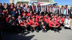 استقبال رسمي وشعبي لبعثة المنتخب الوطني للشباب بميدان السبعين بصنعاء