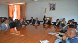 مناقشة الوضع التمويني وقضايا القطاع التجاري في محافظة إب