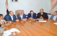 مناقشة إجراءات مواجهة فيروس كورونا بمحافظة إب