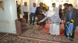 حملة نظافة ورش معقمات لعدد من الجوامع بمدينة إب