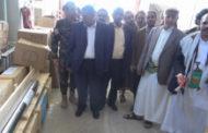 محافظ إب ورئيس هيئة مياه الريف يطلعان على سير العمل بمؤسسة المياه