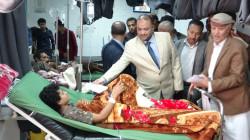 مقبولي وصلاح يطلعان على أحوال الجرحى بمستشفى الثورة بإب