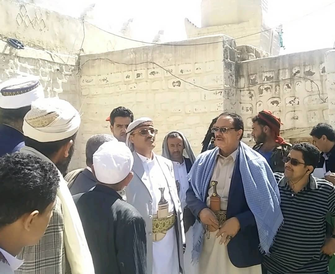 السامعي والكبسي يزوران مدينة جبلة التاريخية