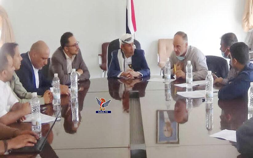 مناقشة إمكانية رفع دعم صندوق الأمم المتحدة للقطاع الصحي في إب